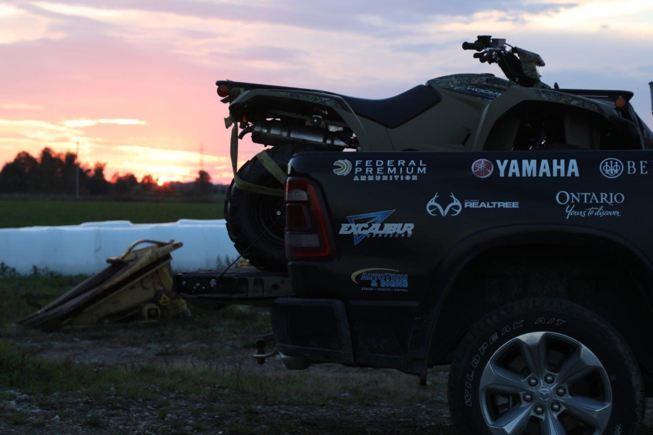 Yamaha ATV on a truckbed